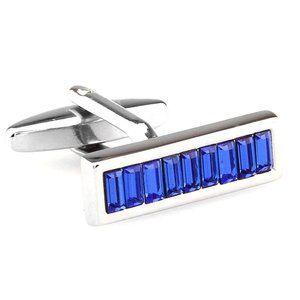 NEW Royal Blue Swarovski Crystal Cufflinks
